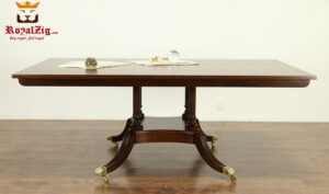 Victorian Style Teak aWood Confrence Table