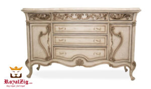 Vintage Style Hand Carved Chest Of Drawers