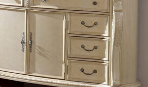 Vintage White Chest Of Drawers