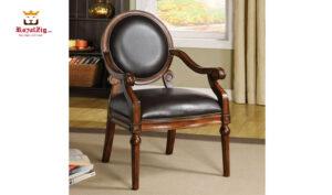 West Point Teak Wood Accent Chair