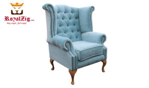 Luxury Modern High Back Wing Chair