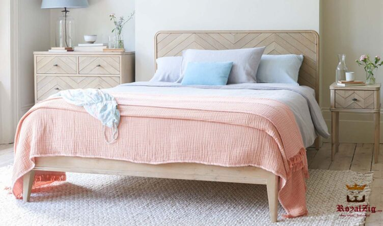 Zig Zag Low Platform Contemporary Bed