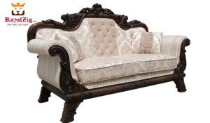 Maharaja handcrafted sofa set teak and gold color