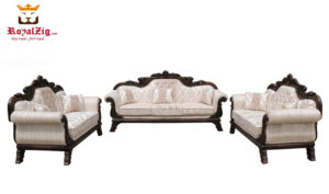 Maharaja Handicraft Sofa Set Teak & Gold Color