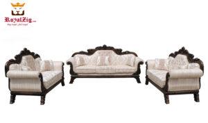Maharaja Handicraft Sofa Set Teak & Gold Color