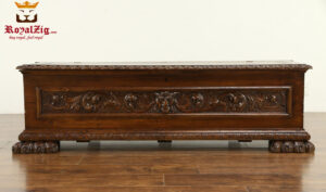 Antique Style Hand Carved Trunk Blanket Chest