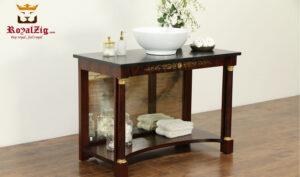 Antique Style Mahogany Finish Sink Vanity RZBV-004