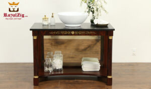 Antique Style Mahogany Finish Sink Vanity