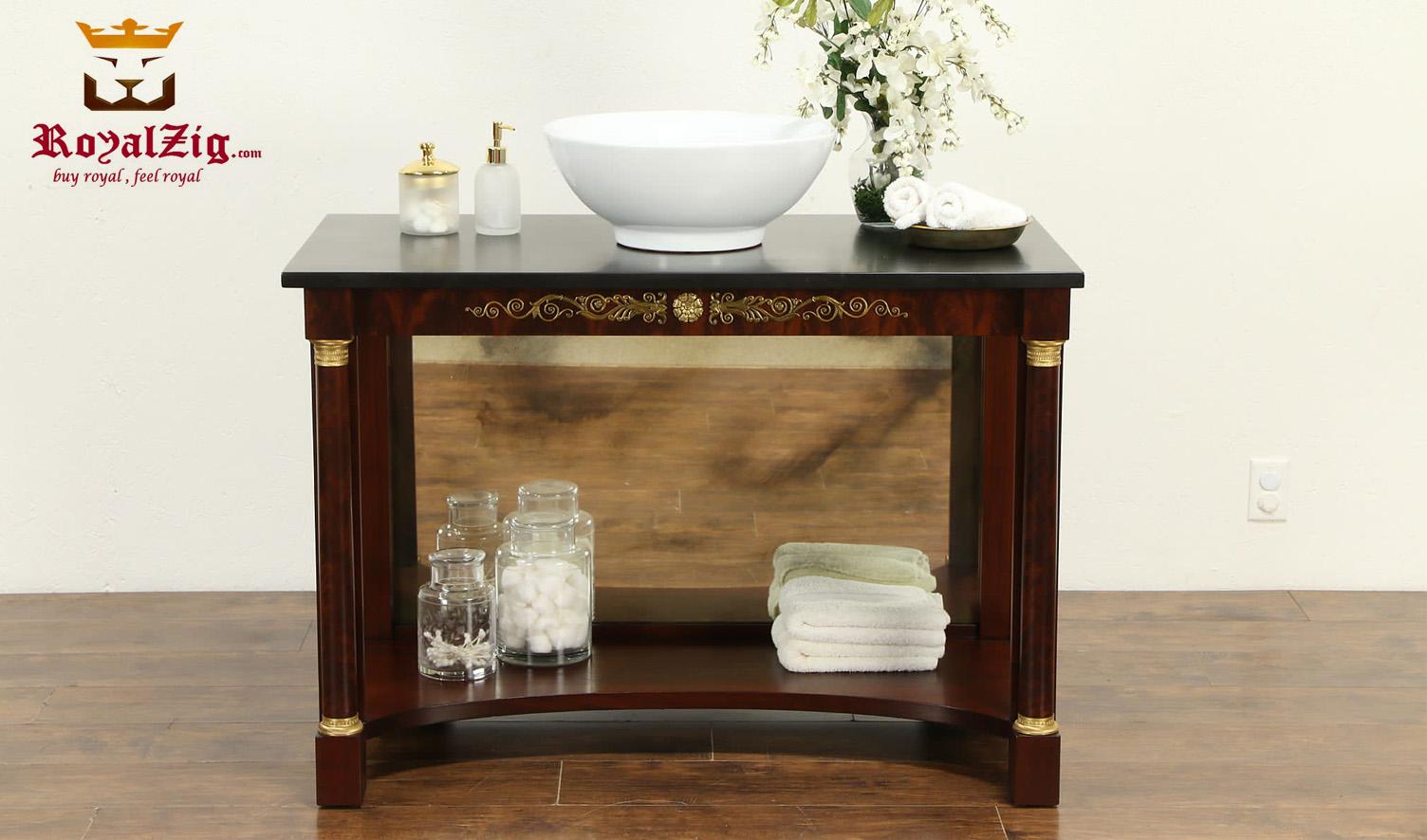 Antique Style Mahogany Finish Sink Vanity
