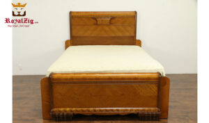 Antique Style Natural Teak Wood Color Bedroom Set RZABS-005