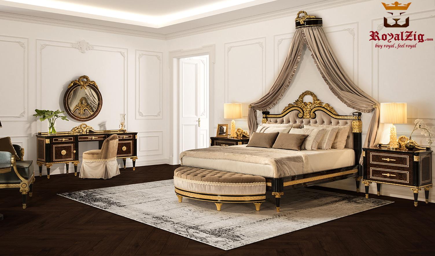 Cairo Luxury Hand Carved Designer Bedroom Set
