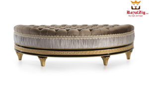 Cairo Luxury Hand Carved Designer Bed Settee