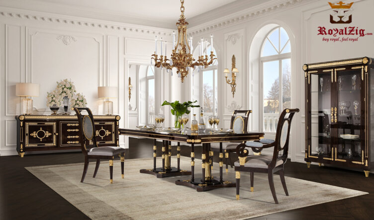 Cairo Luxury Hand Carved Designer Dining Table