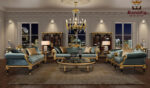 Cairo Luxury Hand Carved Designer Sofa Set
