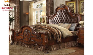 Casandra Antique Style Handcrafted French Carving Bedroom Set