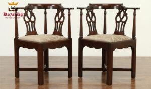 Catherine French Style Teak Wood Corner Chair