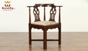 Catherine French Style Teak Wood Corner Chair