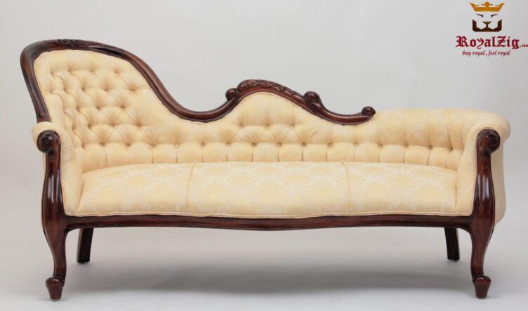 Elegant Antique Style Divan Chaise Lounge