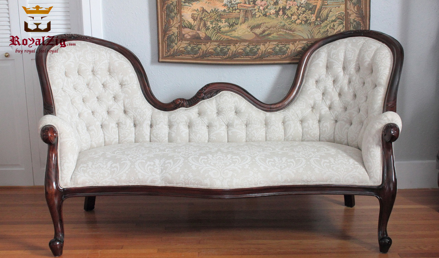 Elizabeth Antique Style 3 Seater Couple Sofa set
