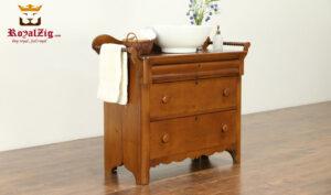 George Antique Style Natural Color Bathroom vanity RZABV-001