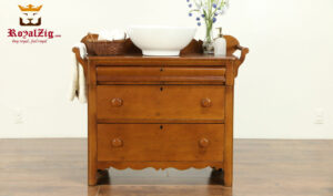 George Antique Style Natural Color Bathroom vanity