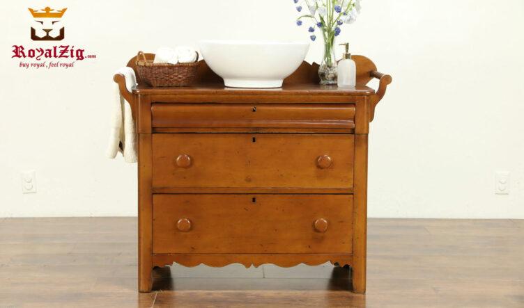 George Antique Style Natural Color Bathroom vanity
