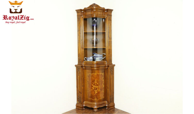 Hand Carved French Style Display Curio Cabinet