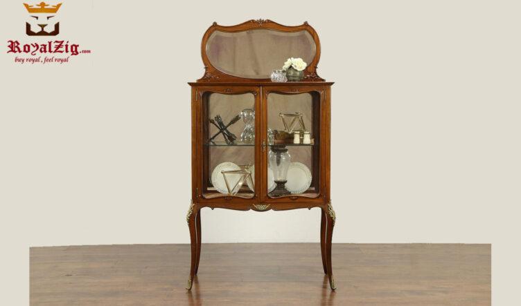 Lara Antique Classical Style Curio Cabinet