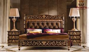 Lisa Hand Carved Royal Motif Bedroom Set