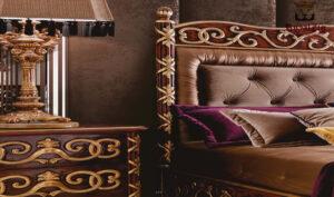 Lisa Hand Carved Royal Motif Bed Brand Royalzig