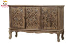 Los Angles Antique Style Carved Sideboard Buffet