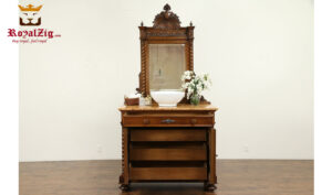 Maharaja Antique Style Sink Vanity With Mirror Frame RZABV-003