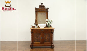 Maharaja Antique Style Sink Vanity With Mirror Frame