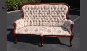 Maharaja Style High Back Tufted Sofa