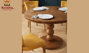 Mark Modern Style Hand Crafted 4 Seater Round Dining Table