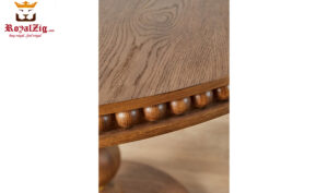Mark Modern Style Hand Carafted 4 Seater Round Dining Table