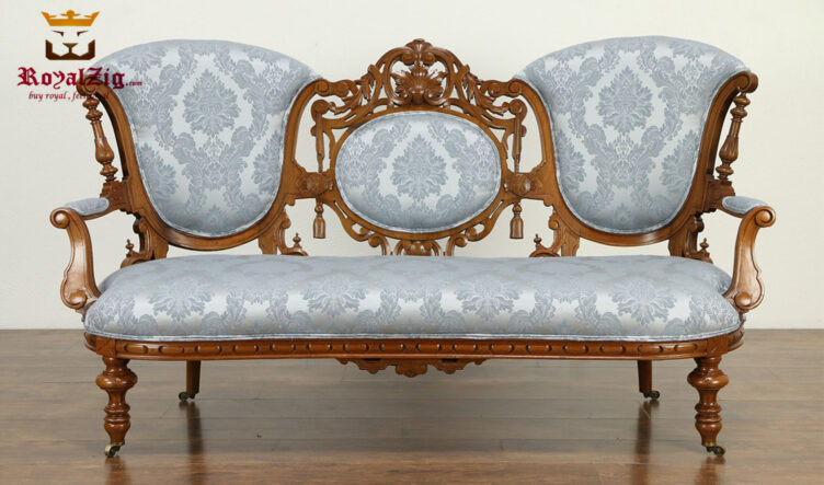 Napoleon Antique Hand Carved 3 Seater Sofa