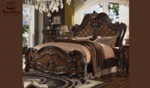 San Antonio Antique Style King Size High Headboard Bed