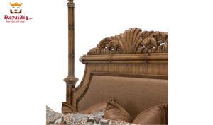 Sara Beautiful Handcrafted Teak Wood Canopy Bed