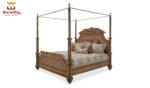 Sara Beautiful Handcrafted Teak Wood Canopy Bed.