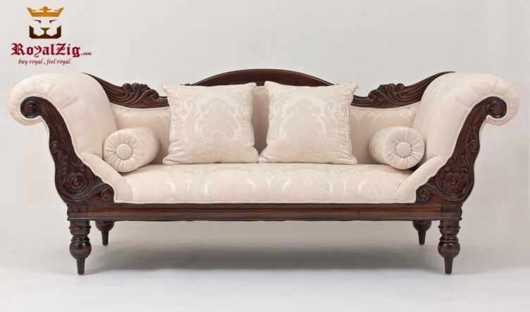 Teak Wood Antique Style 3 Seater Sofa
