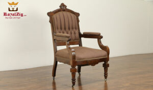 Tudor Antique Style Arm Chair