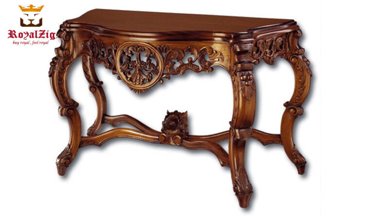 Victorian Style Hand Carved Console Table