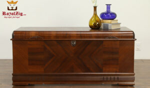 Vintage Style Beautiful Teak Wood Trunk Blanket Chest