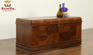 Vintage Style Beautiful Teak Wood Trunk Blanket Chest