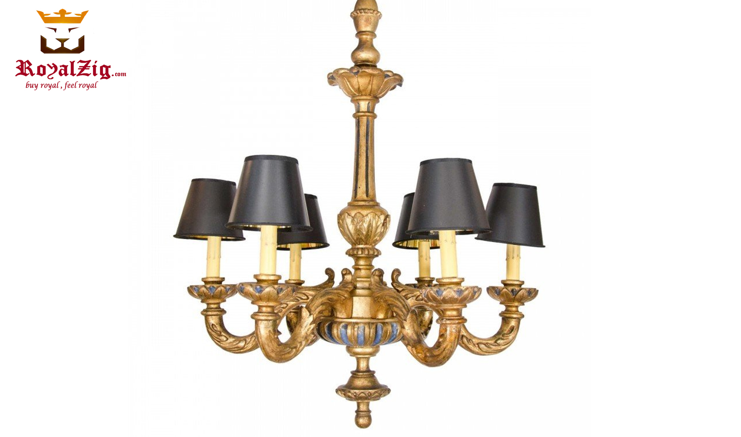 Wooden Luxury Hand Carved Chandelier