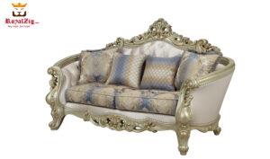 Golden Teak Wood Hand Carving Sofa Set 4