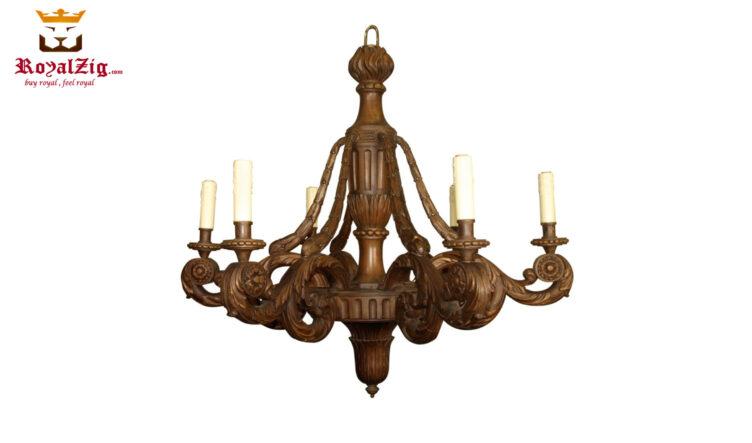 Wooden Carved Chandelier