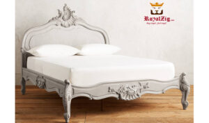Antique Style Hand Carved Queen Bed Saharanpur (2)