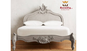 Antique Style Hand Carved Queen Bed Saharanpur (3)